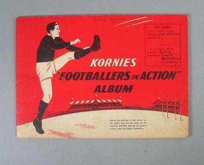 Album - 'Kornies Footballers in Action Album' belonging to David Harrison, 1951
