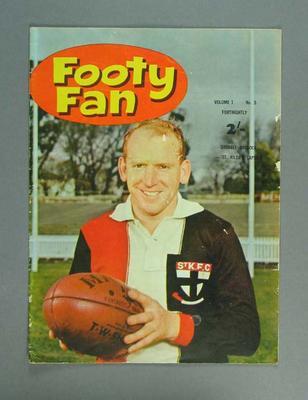 Magazine - Footy Fan Vol. 1 No.5 with image of Darrel Baldock St Kilda F.C.