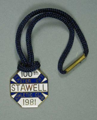 Badge - 100th  Easter Gift,   Stawell Athletic Club 1981