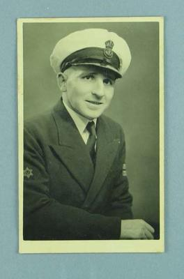 Photograph of R.A.N. serviceman Kevin Thomas Davies, a marshal during 1956 Melbourne Olympic Games