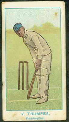 1905 Wills Capstan Australian Club Cricketers Victor Trumper trade card