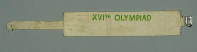 Armband - 'XIVth Olympiad', used by R.A.N. serviceman Kevin T. Davies
