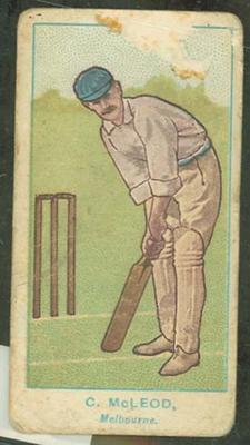 1905 Wills Capstan Australian Club Cricketers Charles McLeod trade card
