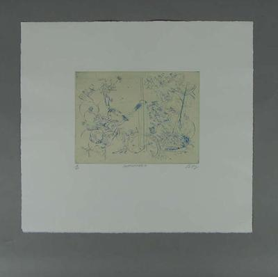Drypoint - 'SUPPORTERS', artist Bruce Petty; edition 4/40