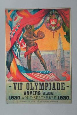 Poster - VII Olympiade 1920, Antwerp, Belgium