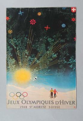 Poster - Jeux Olympiques d'Hiver/1948 St Mortitz Suisse - 1948 Winter Olympics