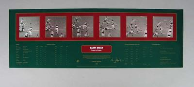 Poster - Frame by Frame - Barry Breen, St. Kilda footballer