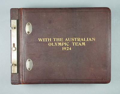 Album - 'With the Australian Olympic Team 1924' compiled by athlete Jack Newman