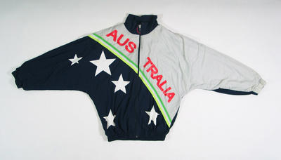 Track suit top - worn by Lachlan Jones 1996 Atlanta Paralympic Games