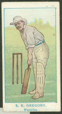1905 Wills Capstan Australian Club Cricketers Sydney Gregory trade card