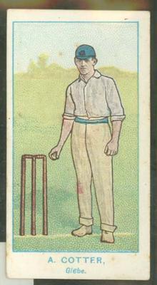 1905 Wills Capstan Australian Club Cricketers Albert Cotter trade card