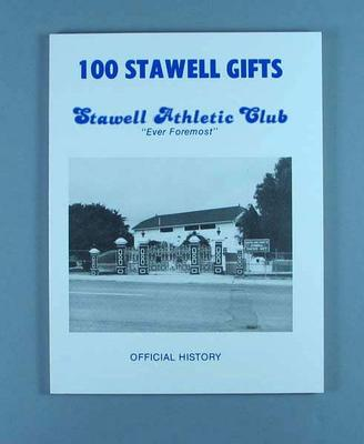 "Book, ""100 Stawell Gifts"""
