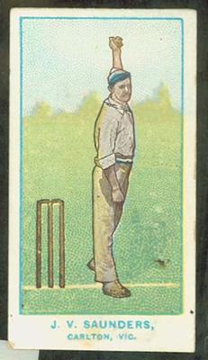 1905 Wills Capstan Australian Club Cricketers John Saunders trade card