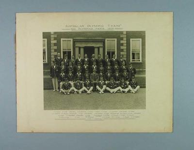 Photograph - Australian Olympic Team VIII Olympiad Paris 1924