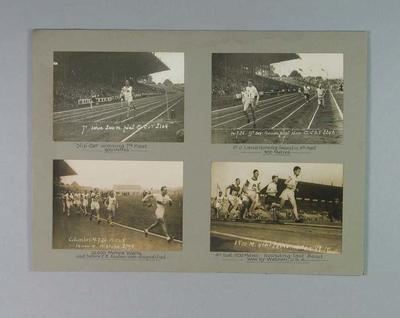 Photographs of Australians competing in 1924 Paris Olympic Games