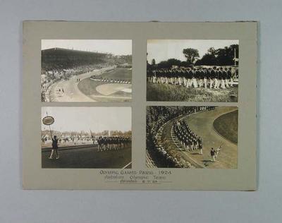 Photographs - Australian team Opening Ceremony 1924 Paris Olympic Games 6.7.24