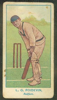 1905 Wills Capstan Australian Club Cricketers Leslie Poidevin trade card