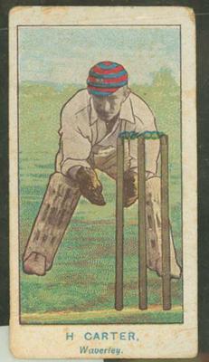 1905 Wills Capstan Australian Club Cricketers Hanson Carter trade card