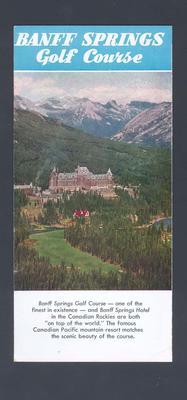 Tourist brochure for Banff Springs, Banff, Canada