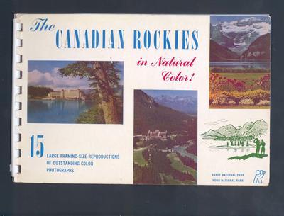 Tourist brochure, Canadian Rocky Mountains c1954