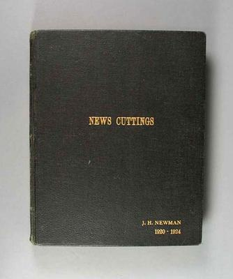 Scrapbook - 'News Cuttings -J.H. Newman 1920-1924' compiled by Jack Newman; Documents and books; 2000.3647.1