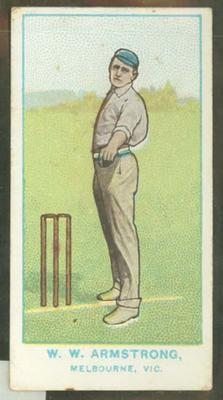 1905 Wills Capstan Australian Club Cricketers W W Armstrong trade card