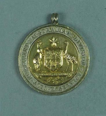 Commemorative medallion recognising Australian Army Third Division Active Service 1916-1917, presented to Frank Beaurepaire