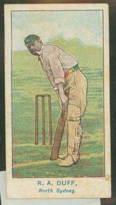 1905 Wills Capstan Australian Club Cricketers R A Duff trade card
