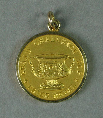 Medal - Grand Challenge Cup Gold Medal awarded to G.H. Coleman, Hawthorn Rowing Club, 1928