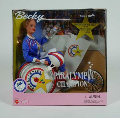 Doll -  Paralympic Becky Doll Australia 2000; Games and toys; 2000.3644.3