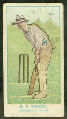 1905 Wills Capstan Australian Club Cricketers Ernest Waddy trade card