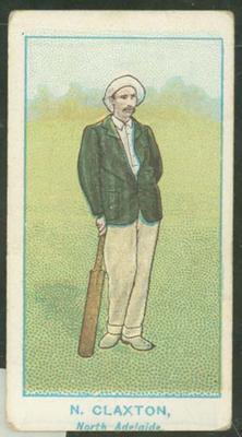 1905 Wills Capstan Australian Club Cricketers Norman Claxton trade card