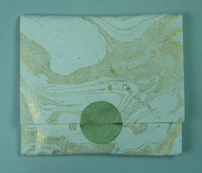 Chocolate gold medal in folded 'envelope' wrap - provided for athletes staying at the Hilton Hotel 2000 Olympic Games Football Tournament  in September 2000