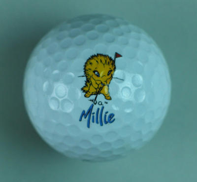 Dunlop DDH2 Golf Ball featuring 'Millie' the Echidna, a Sydney 2000 Olympic Mascot
