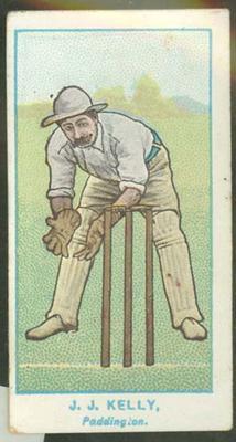 1905 Wills Capstan Australian Club Cricketers James Kelly trade card