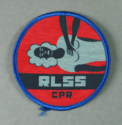 Cloth badge, Royal Life Saving Society CPR c1982