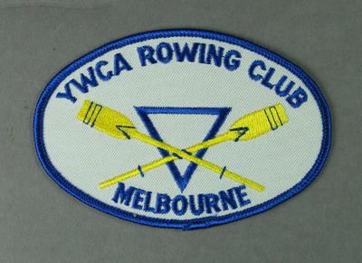 Cloth badge, YWCA Rowing Club - Melbourne c1996