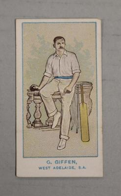 1905 Wills Capstan Australian Club Cricketers George Giffen trade card