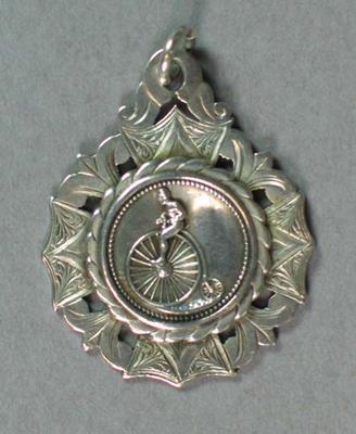 Medal - N.C.C. 1st Road Race - 3rd Prize won by T.H. Blower, 9 June [18]94, Distance 18 Mls
