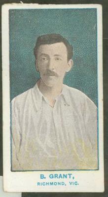 1905 Wills Capstan Australian Club Cricketers Bartholomew Grant trade card