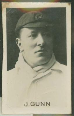 1923 CHUMS Periodical CHUMS Cricketers John Gunn trade card