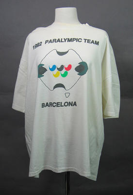 T-shirt, 1992 Australian Paralympic Games team