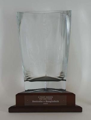 Trophy for 3 Test Series Australia v Bangladesh 2003.