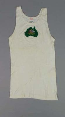 Singlet worn by athlete Kenneth Macdonald, 1950 British Empire Games