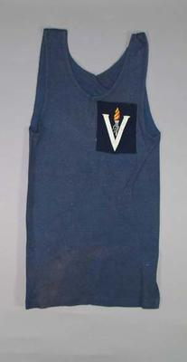 Singlet  - Victorian State worn by athlete Kenneth Macdonald c. 1930-50s
