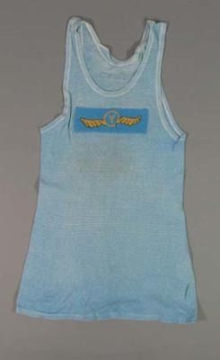 Singlet  - ' Y '[YMCA] No.9 , obtained by athlete Kenneth Macdonald