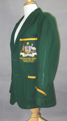 Blazer - British Empire Games, Auckland 1950, Athletics - worn by K.W. Macdonald