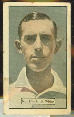 1936-37 Allen's Cricketers Edward White trade card