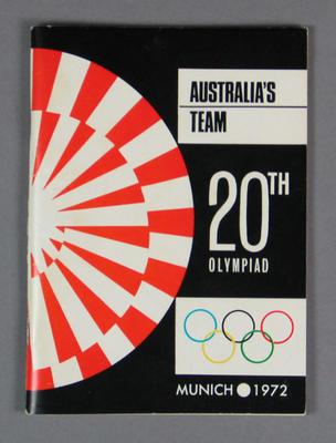 Booklet, Australia's Team - 1972 Munich Olympic Games