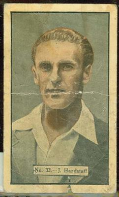 1936-37 Allen's Cricketers Joseph Hardstaff trade card